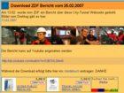 ZDF Bericht über die City-Tunnel-Webseite