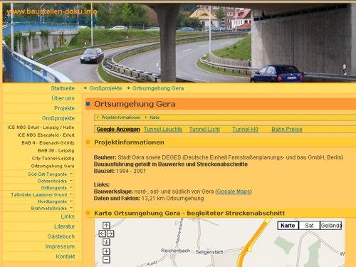 Baustellen-doku.info um Ortsumgehung Gera erweitert