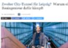Zeitungsartikel zum Kampf für den zweiten City-Tunnel