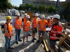 Rundgang mit HTWK Studenten über SAB Baustelle